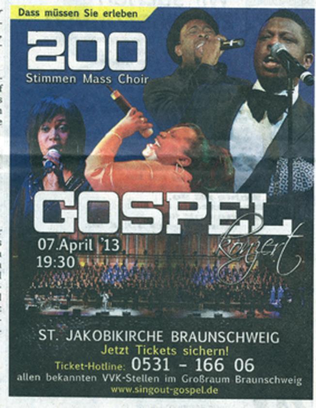 Unser Gospel Konzert in Braunschweig...